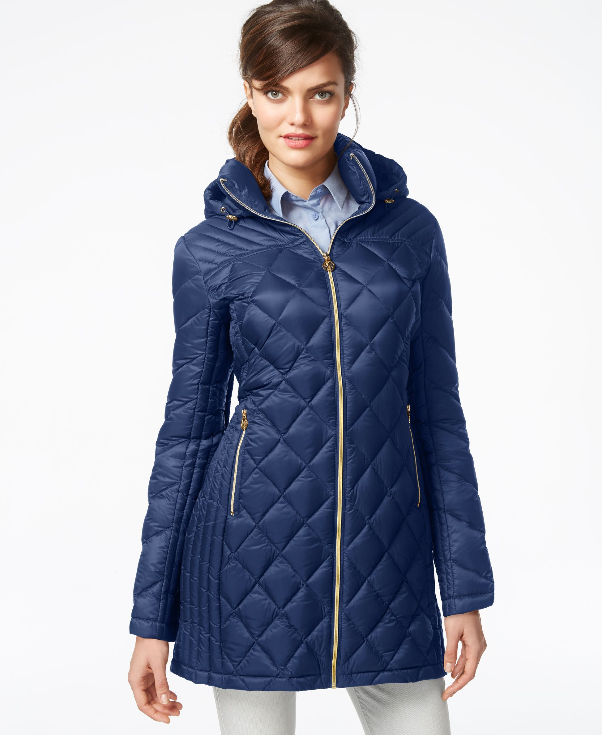MICHAEL Michael Kors' down puffer coat will keep her warm in