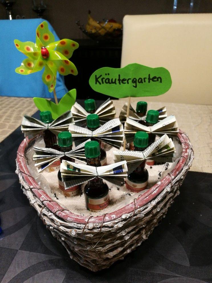 Krutergarten Geldgeschenk fr Mnner Kutergarten  Basteln  Pinterest  Geldgeschenke