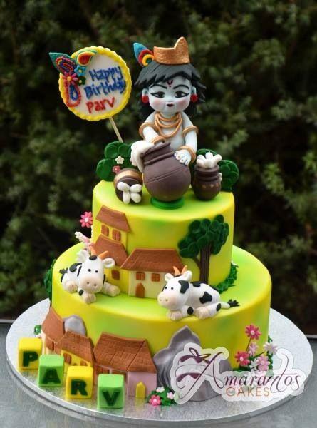 Krishna Amarantos Cakes Baby Birthday Cakes Cake Decorating