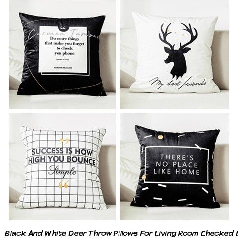 Best Black And White Deer Throw Pillows For Living Room Checked 640 x 480