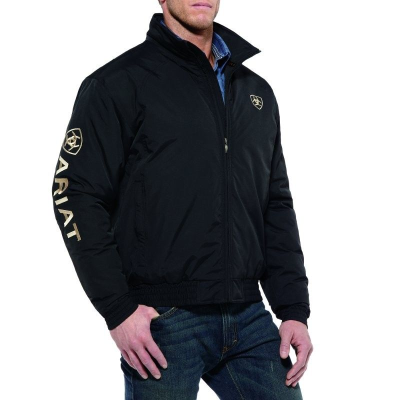 27bede10fcf Classic favorite. Water and wind resistant. Featured: Ariat Mens Black Team  Jacket