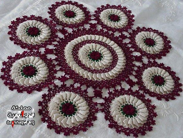 اعمال يدوية بالصور مفارش كروشيه تركيه بالصور موديلات مفارش تركية للعرايس Crochet Tablecloth Crochet Bag Pattern Crochet Doilies
