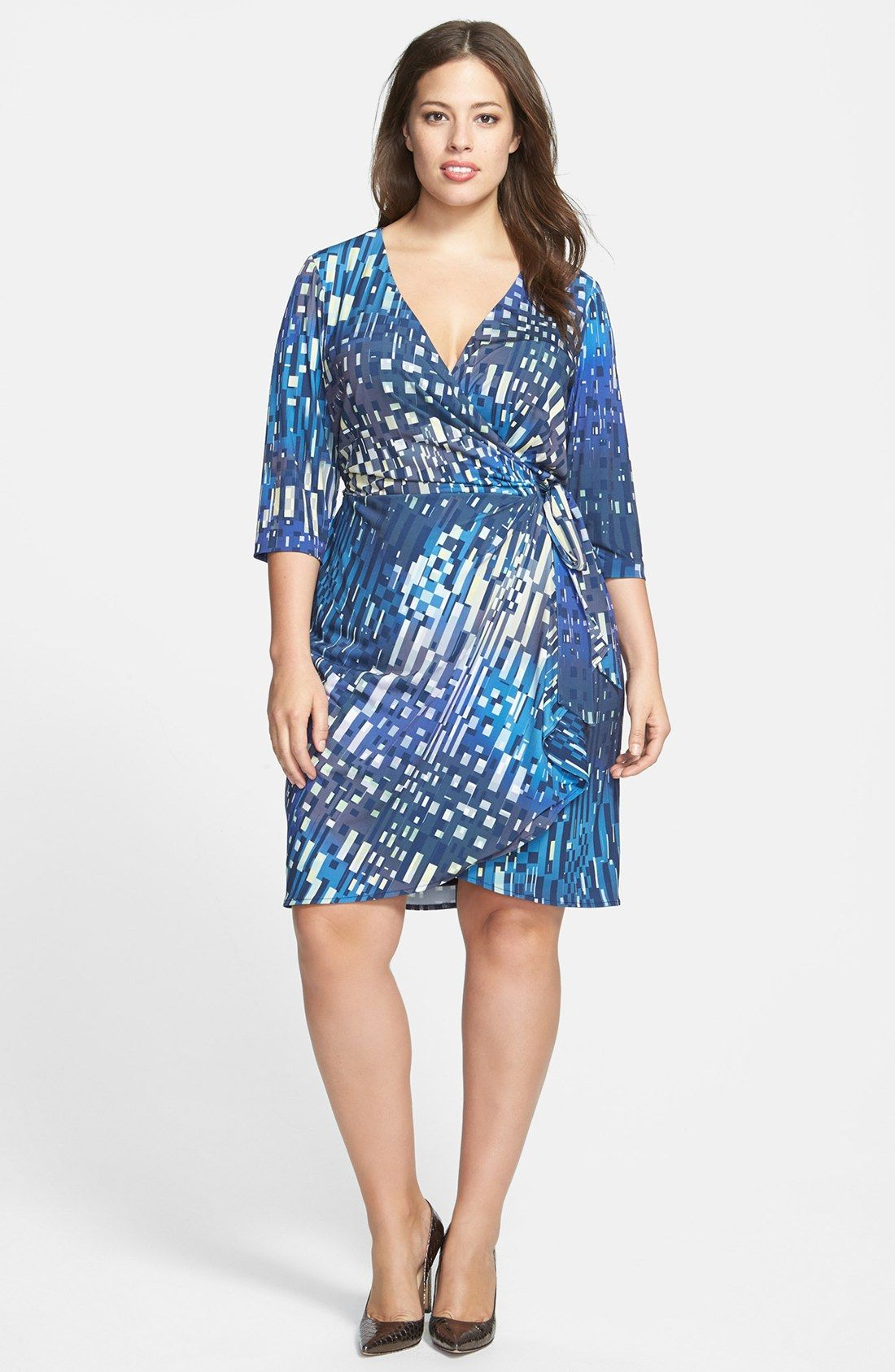 Ivy & Blu Print Faux Wrap Dress (Plus Size) | Nordstrom | My Style ...