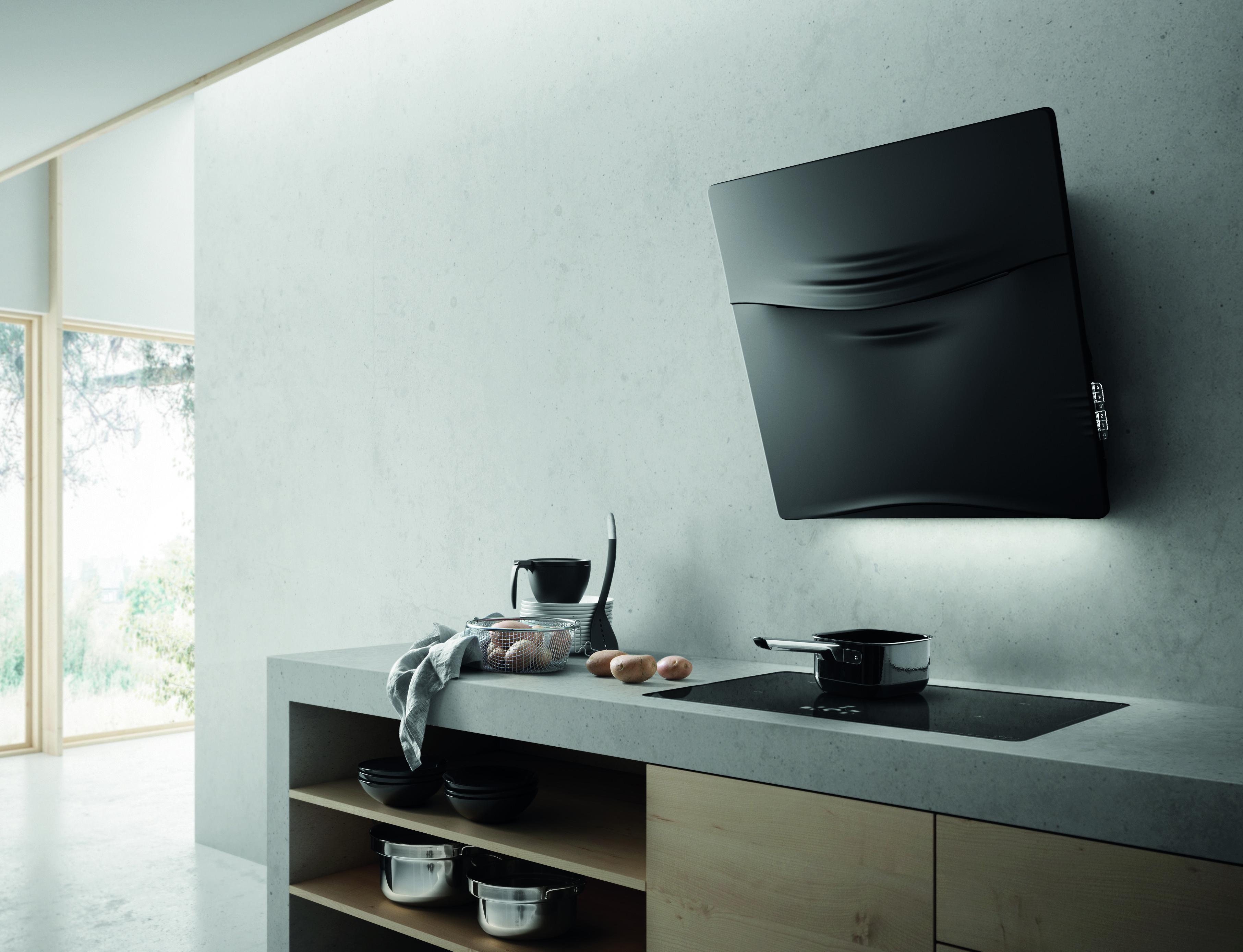 Concetto spaziale is the new vertical elica hood in for Concetto aperto cucina soggiorno