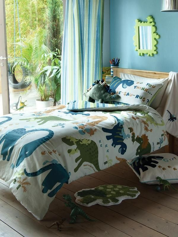 Catherine Lansfield Dinosaur Single Duvet Cover Set Very Co Uk