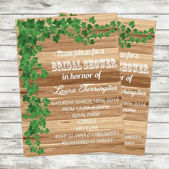 printable Wedding Invitation bridal shower by DOTTIEDESIGN2015