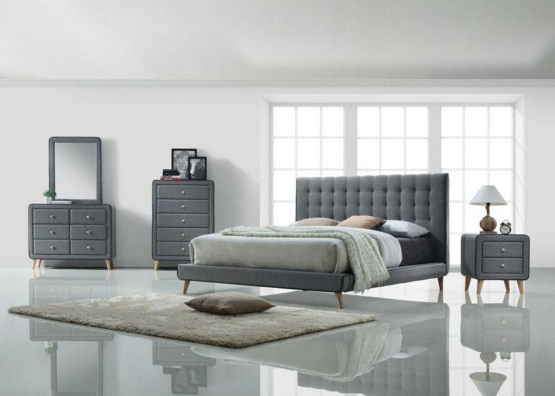 Best Acme 24520Q 5 Pc Valda Light Gray Fabric Upholstered Queen 640 x 480
