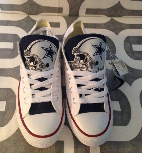 Dallas Cowboys Custom Converse Chuck Taylor Chucks by MizMaryMacks ... c75ec5d89