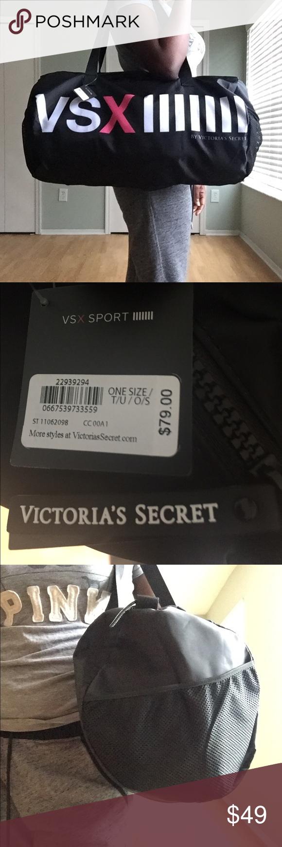 Victoria's Secret Sports Duffle Bag Large Black Sports Duffle Bag Victoria's Secret Bags Travel Bags