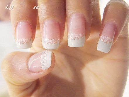 Lace bride nail themarriedapp.com hearted <3
