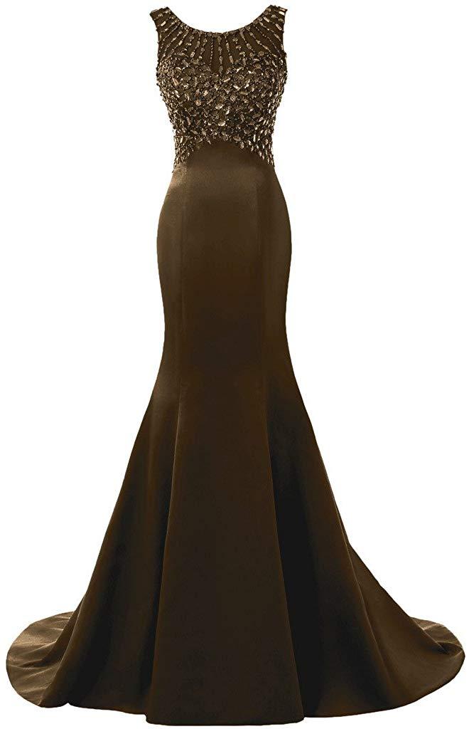 Solovedress Frauen Langes Meerjungfrau Prom Kleid Perlen Abendkleider Brautkleid Brautjungfer Amazon Formale Abendkleider Abendkleid Brautjungfernkleider Lang