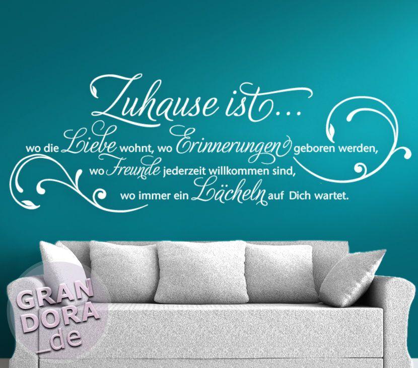 Details zu wandtattoo wandsticker wandaufkleber flur for Wandtattoo wohnzimmer selber machen