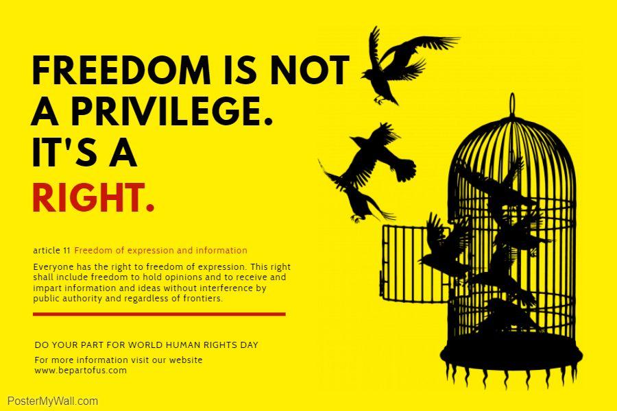 Human Rights Modern Propaganda Poster Template Poster Template Human Rights Quotes Propaganda Posters