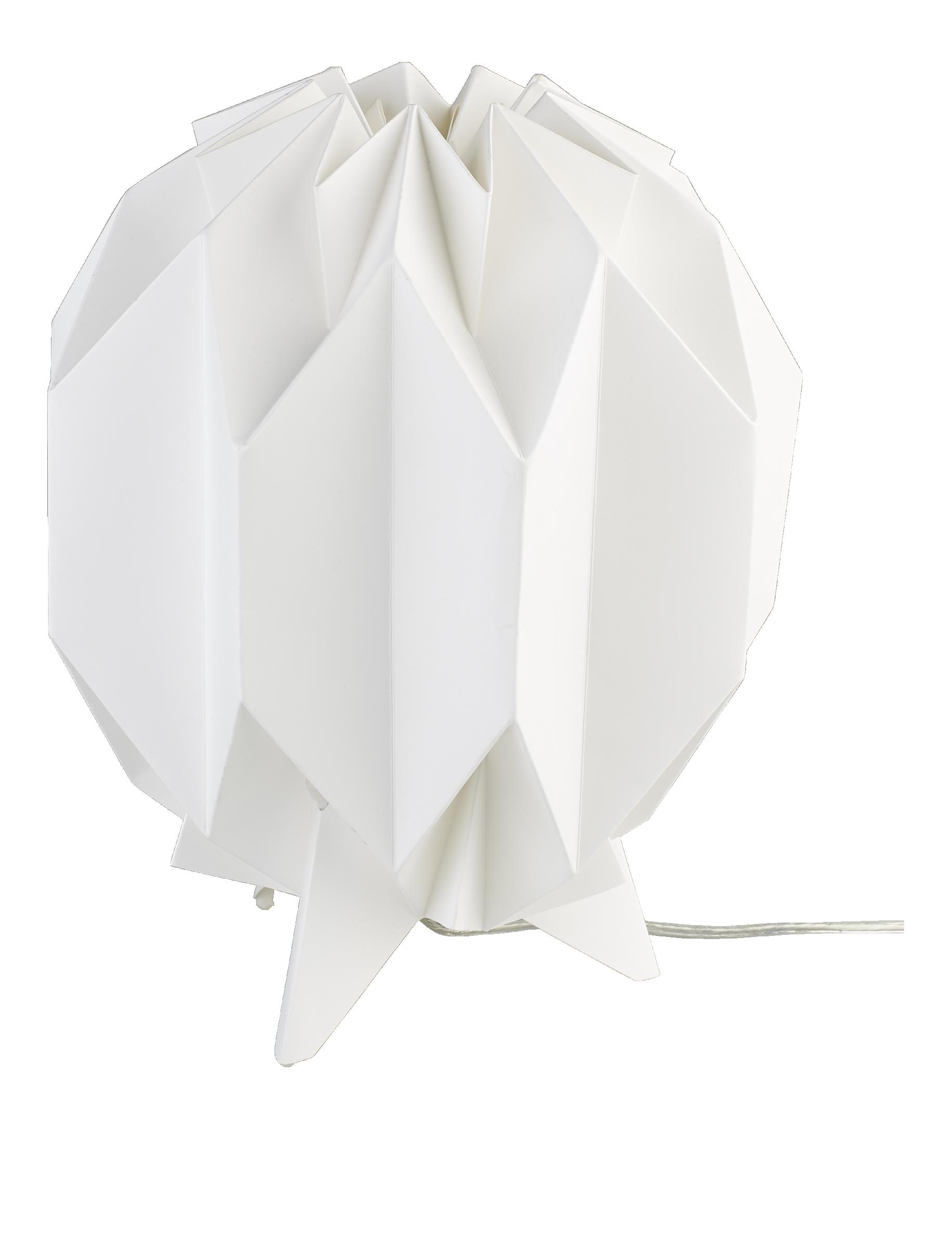 KURA Lampes de table Blanc Bois Papier