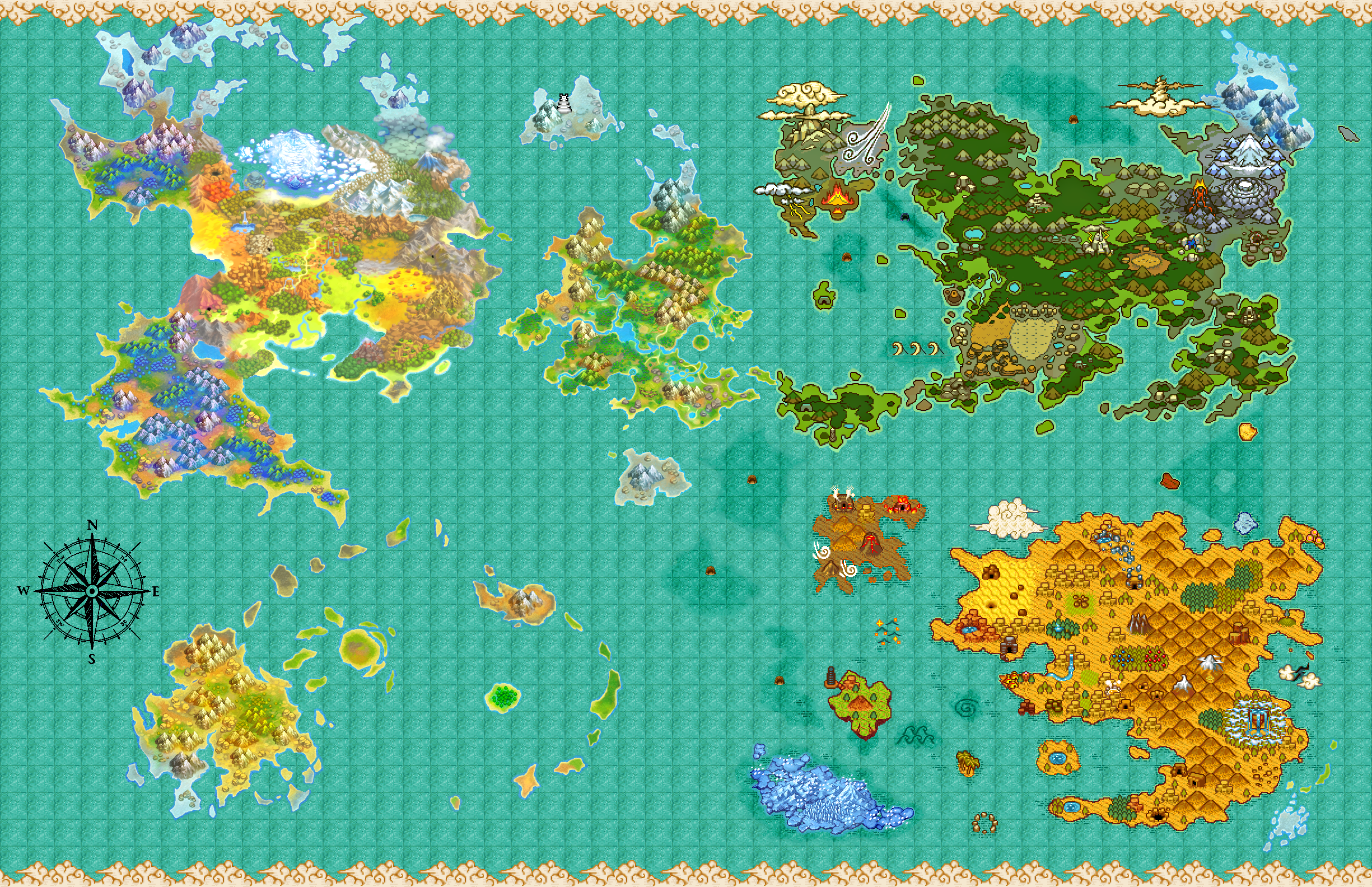 Pokemon Mystery Dungeon World Map | Pokemon, Dungeon maps ...
