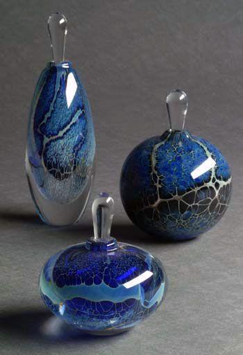 Cobalt Coral Reef Perfume Bottle