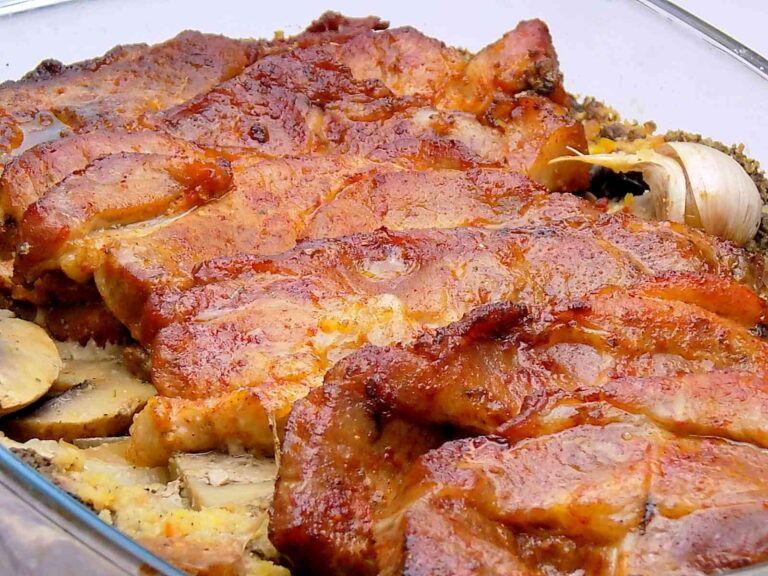 Karkowka Z Pieczarkami I Cebula Kuchnia Na Wypasie In 2021 Food Bacon Meat