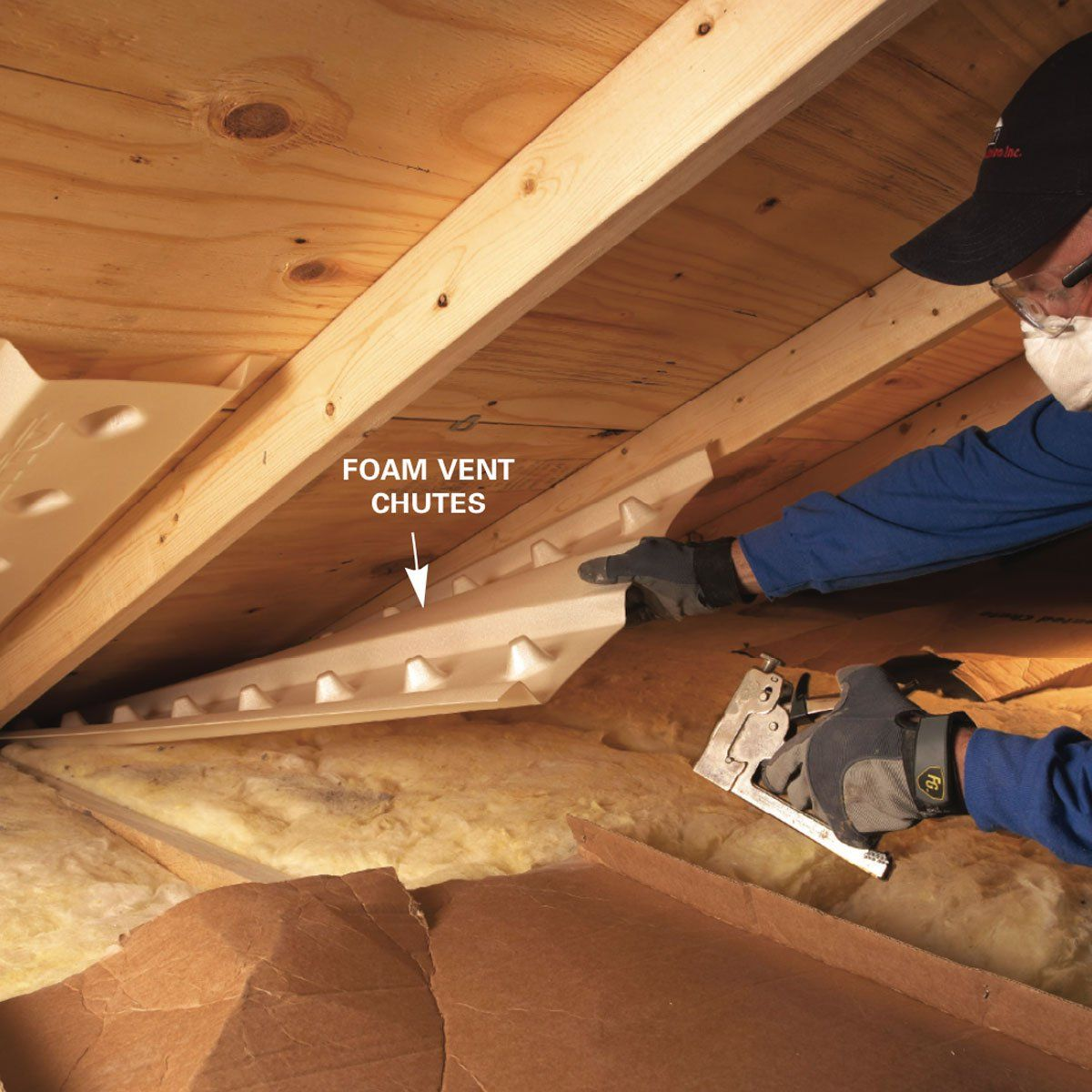 Install Baffles In Attics At The Soffit To Assure Proper Ventilation For Attic And Roof Attic Ventilation Attic Renovation Attic Remodel