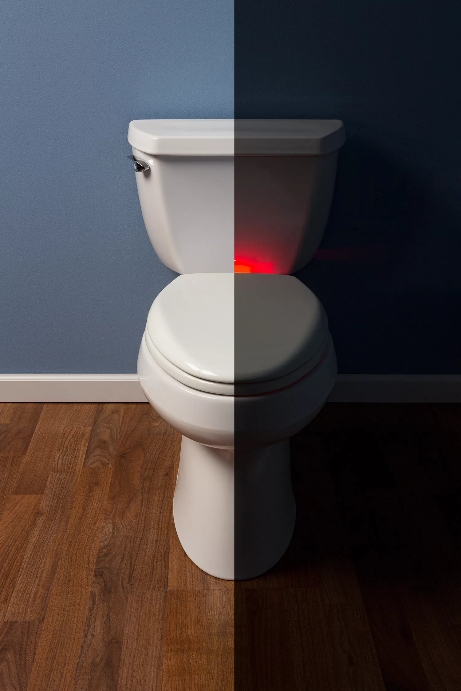 This Toilet Seat With Nightlight Creates A Soft Guiding Glow So