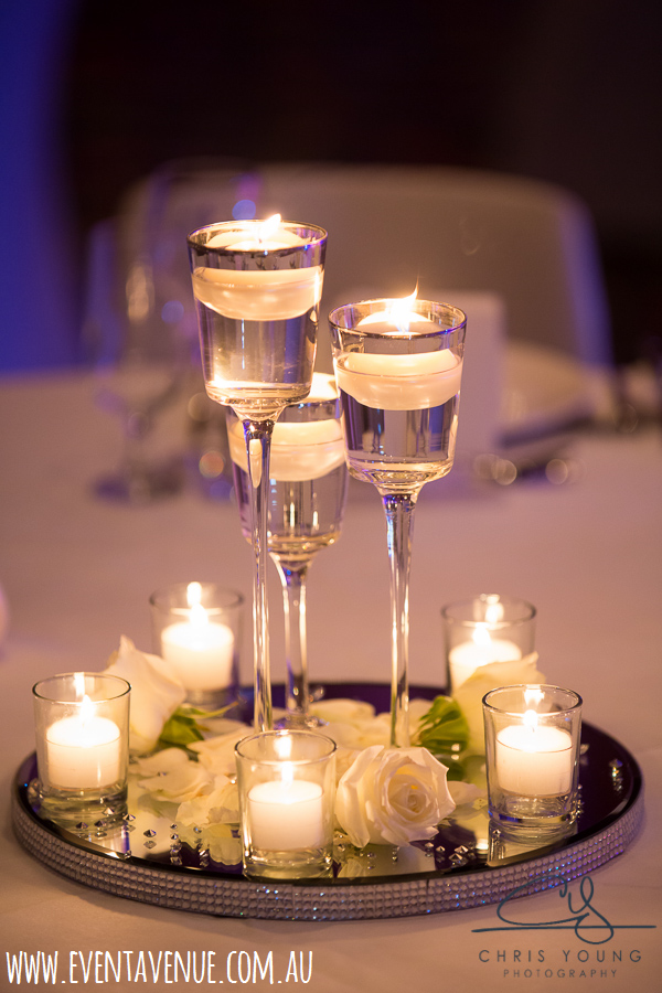 Wedding centrepiece designs small wine glasses