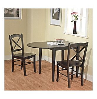 Target Marketing Systems 3 Pc. Tiffany Drop Leaf Dining Set ...