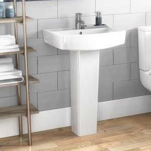 Jack 450mm Floorstanding Gloss White Vanity Unit & Basin | Drench