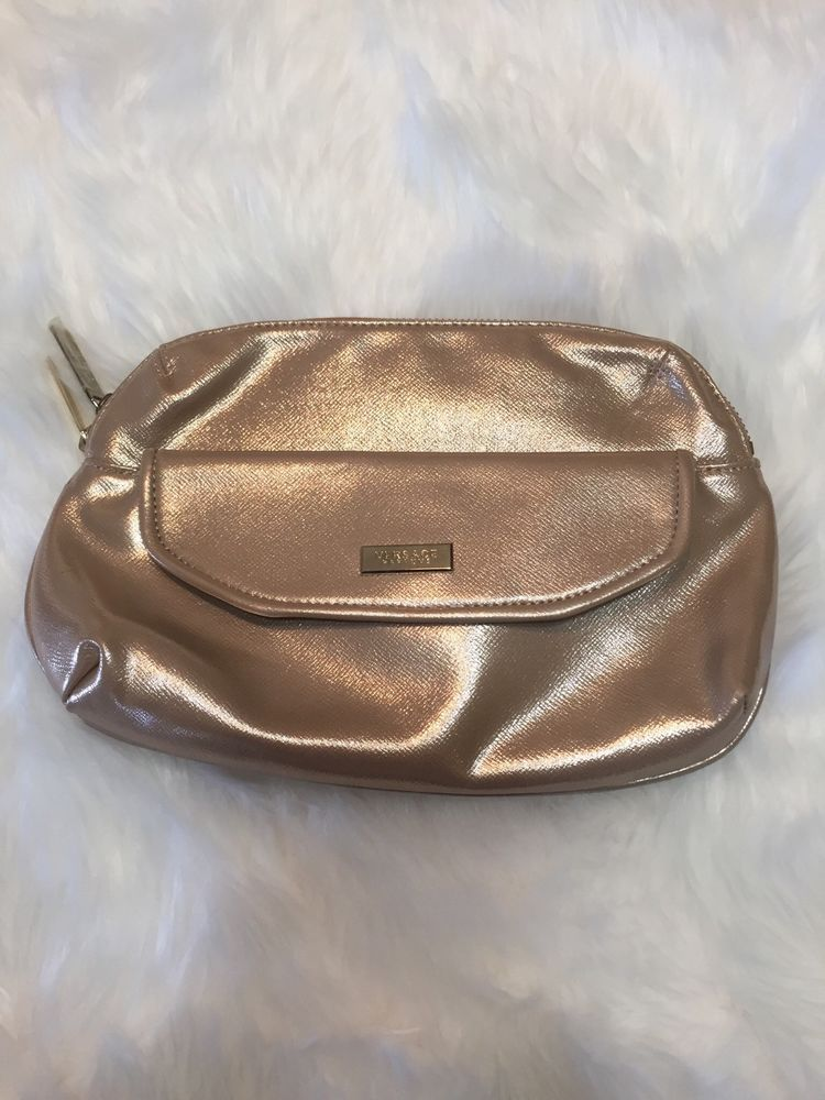 059a863973 Versace Parfums Rose Gold Makeup Toiletry Bag