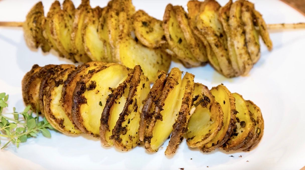 Spiral Potatoes No Fry Potato Tornados Spiral Potato Potatoes Baked Potato Oven