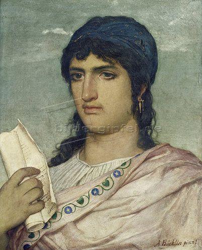 Arnold Böcklin (Schweizer Maler, 1827-1901): Sappho. 1862.
