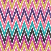 Color Pop Ikat Chevron by bohemiangypsyjane, Spoonflower digitally printed fabric