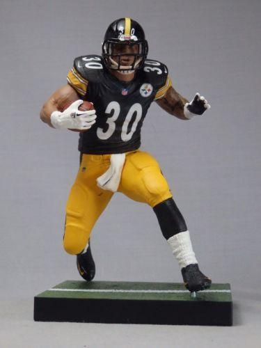 6cd1f4fd7ed JAMES CONNER custom Mcfarlane figure Pittsburgh Steelers Black Jersey Helmet
