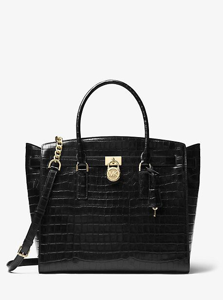 e547963bbb74 Michael Kors Hamilton Embossed-Leather Weekender | Products ...