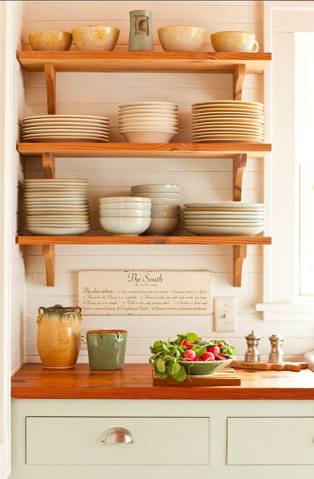 Open Shelves #Kitchen Open #Shelves