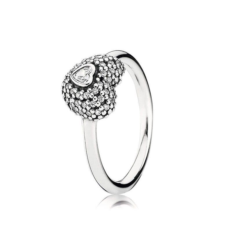 New Pandora Im Meine Herz 925 Silber Ring 190877cz Pandora Rings Heart Pandora Rings Pandora Rings Uk