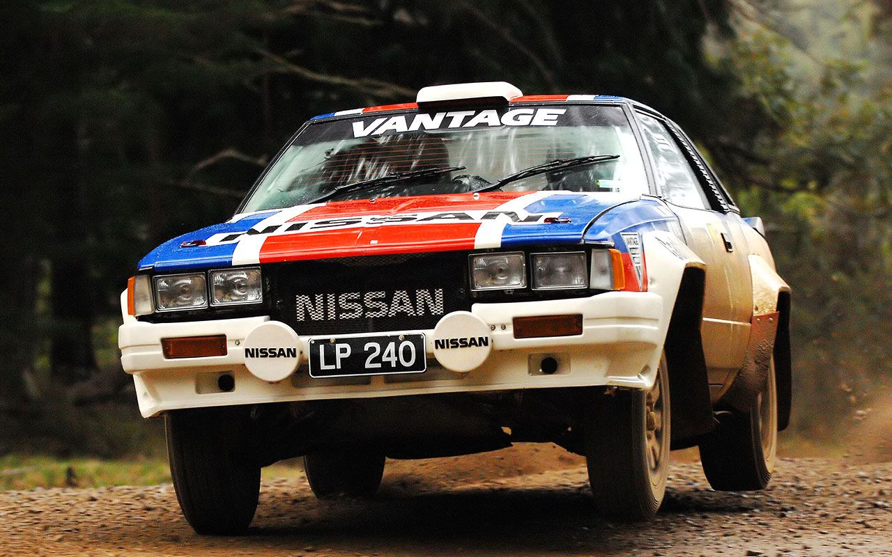 Nissan 240RS rally car