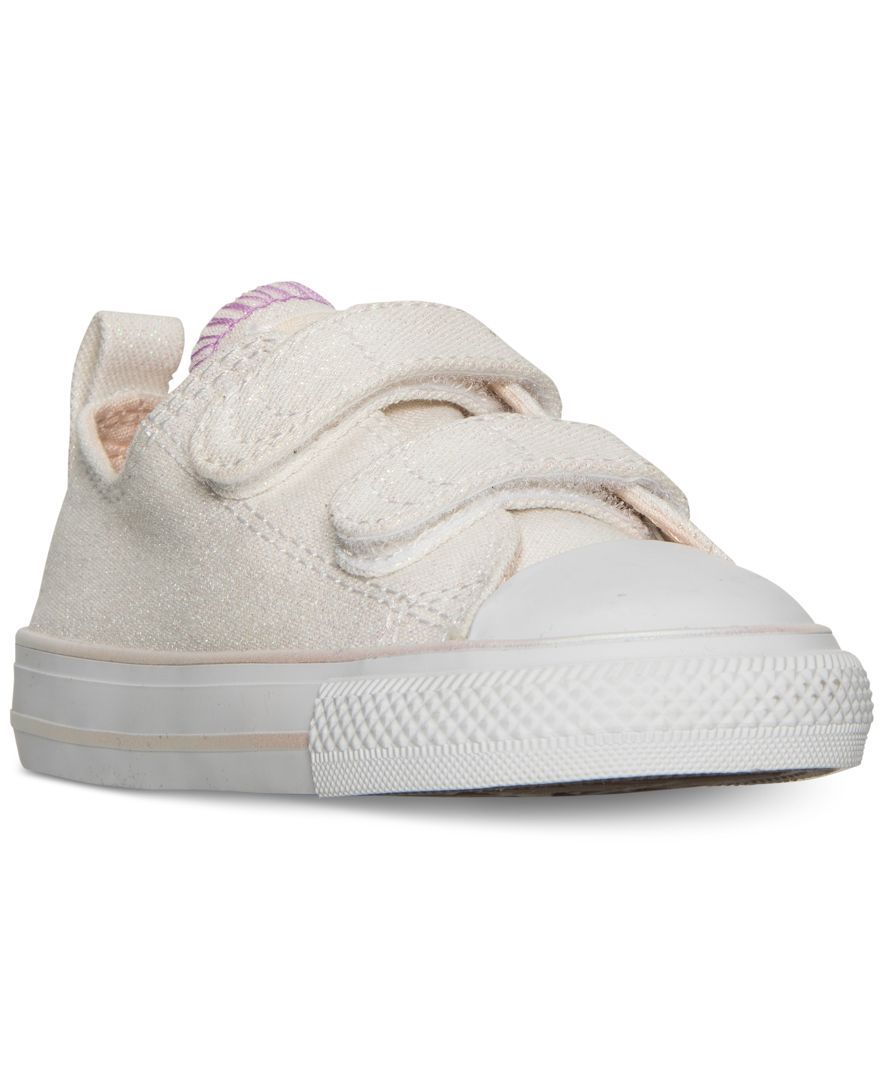 a2173bcaf793 Converse Toddler Girls  Chuck Taylor All Star Ox Velcro Casual Sneakers  from Finish Line