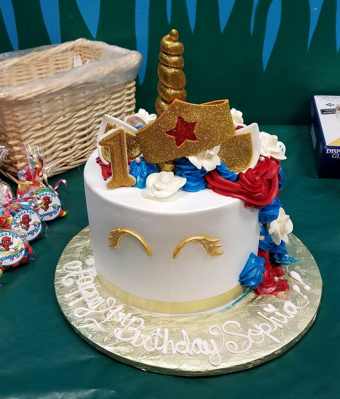 Wonderwoman Unicorn Tres Leches Cake From El Bolillo