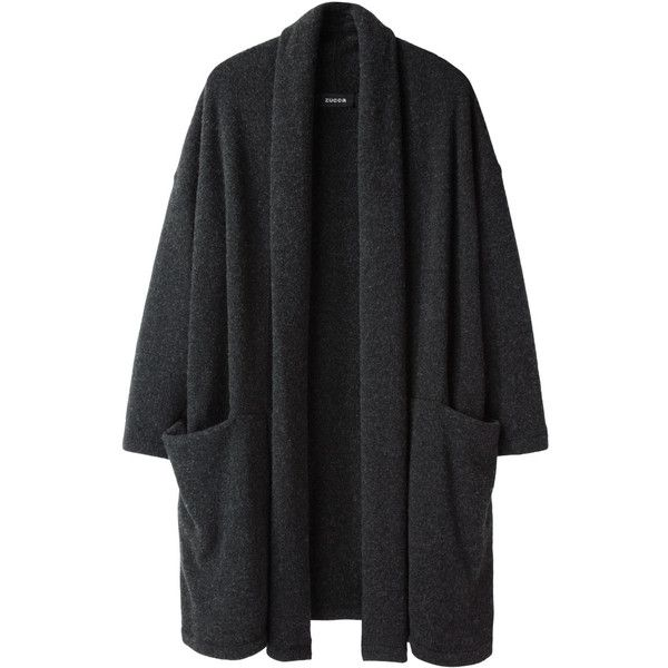 Zucca Wool Pile Cardigan found on Polyvore