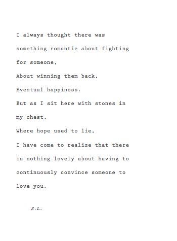 Fighting for someone