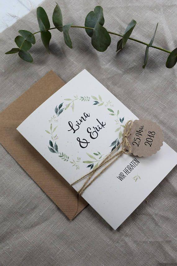 Hochzeitseinladung inkl. Tagesablauf personalsierte | Etsy