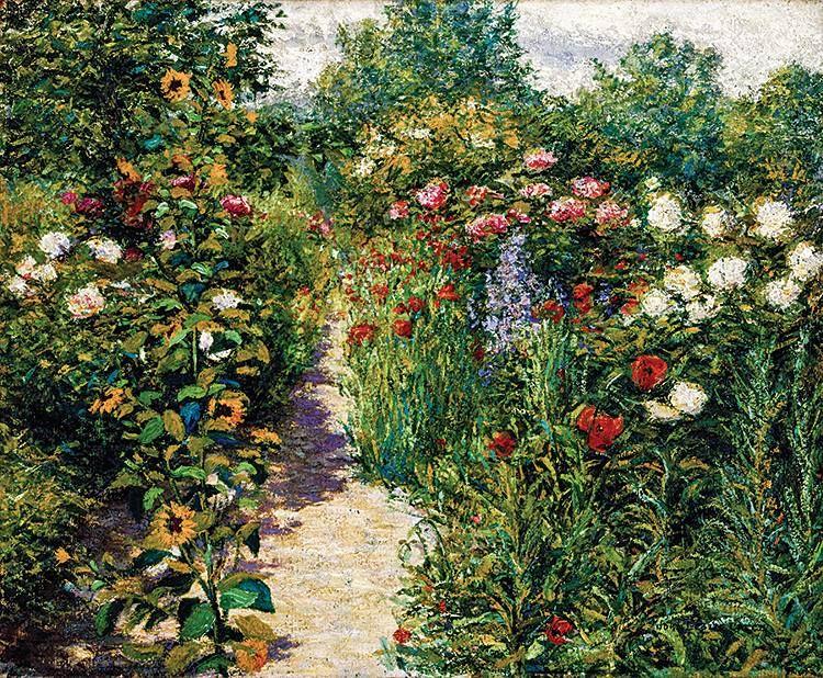 John Leslie Breck, Garden at Giverny, c. 1887.