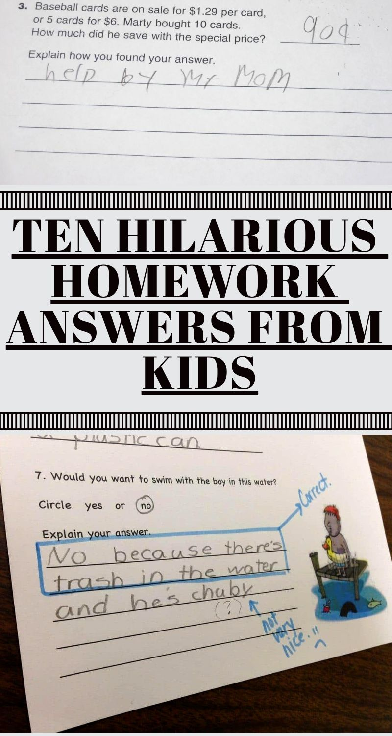 Ten Hilarious Homework Answers From Kids | Stunning Nature | Funny