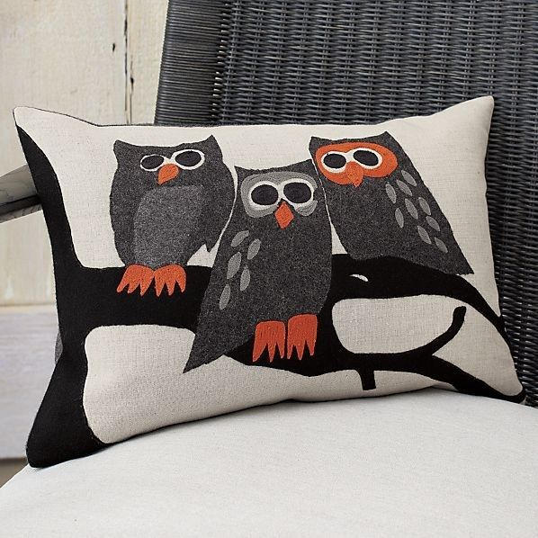 Owl Halloween Pillow, Halloween pillows, Owl and Decoration