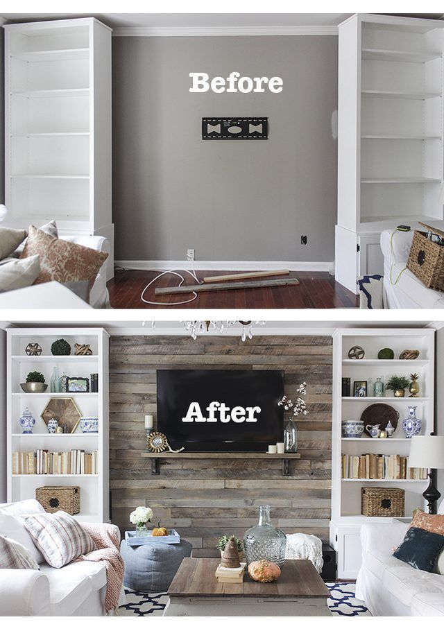under window bookcase glass how to build pallet accent wall in an afternoon includes tips on safe pallets use and building wire pathways for mounting tv create wood pallet accent wall diy living room home