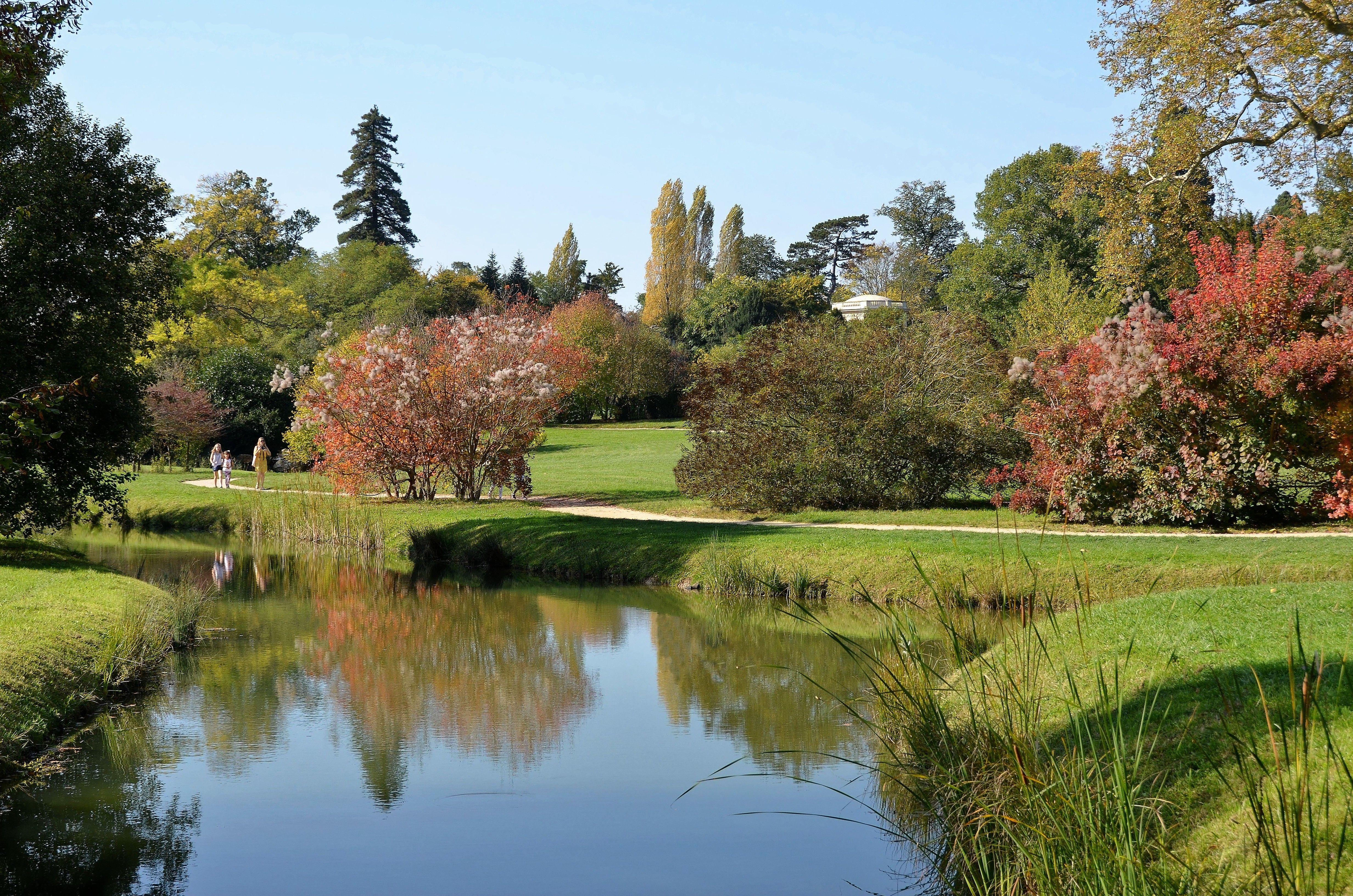 Parc Du Chateau De Versailles Yvelines Petit Trianon Jardin
