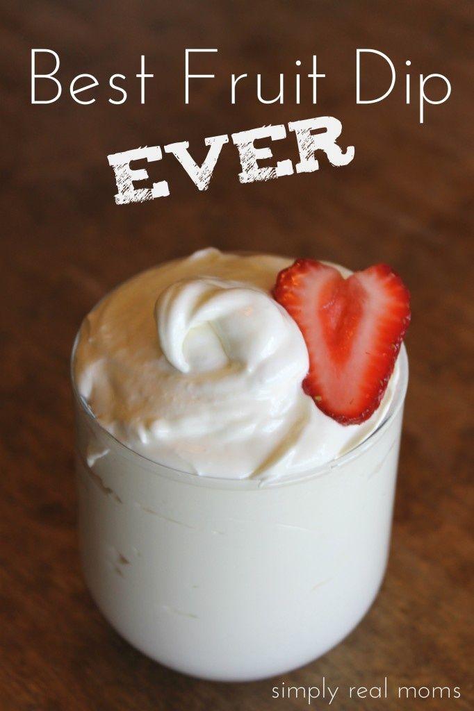 Creamy Fruit Dip Food Fruit Dips Recipes Desserts