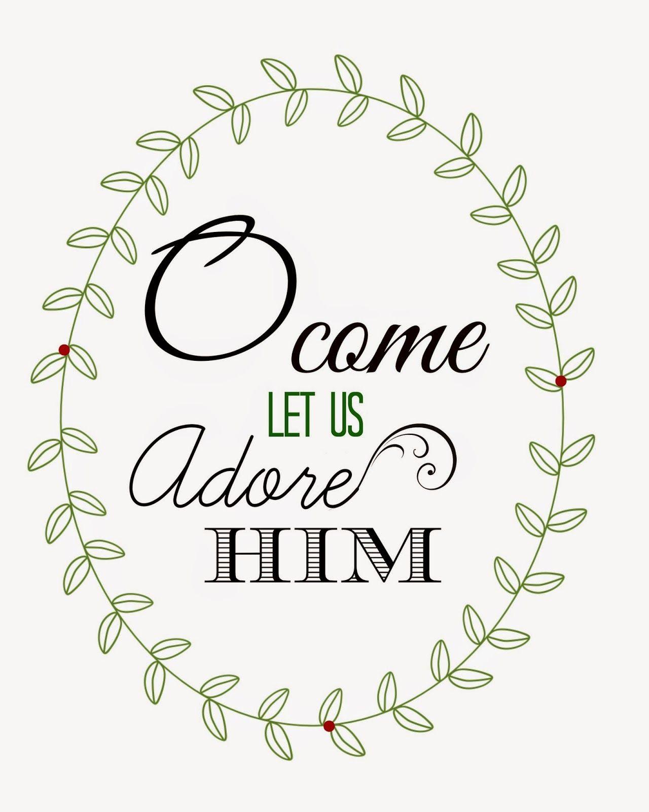 Kate\'s Kitchen: O come let us adore him | **Navidad***Christmas ...