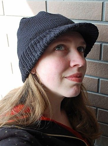 Free knitting pattern for Appi Slopes Hat with brim and bill d640fcd1b76