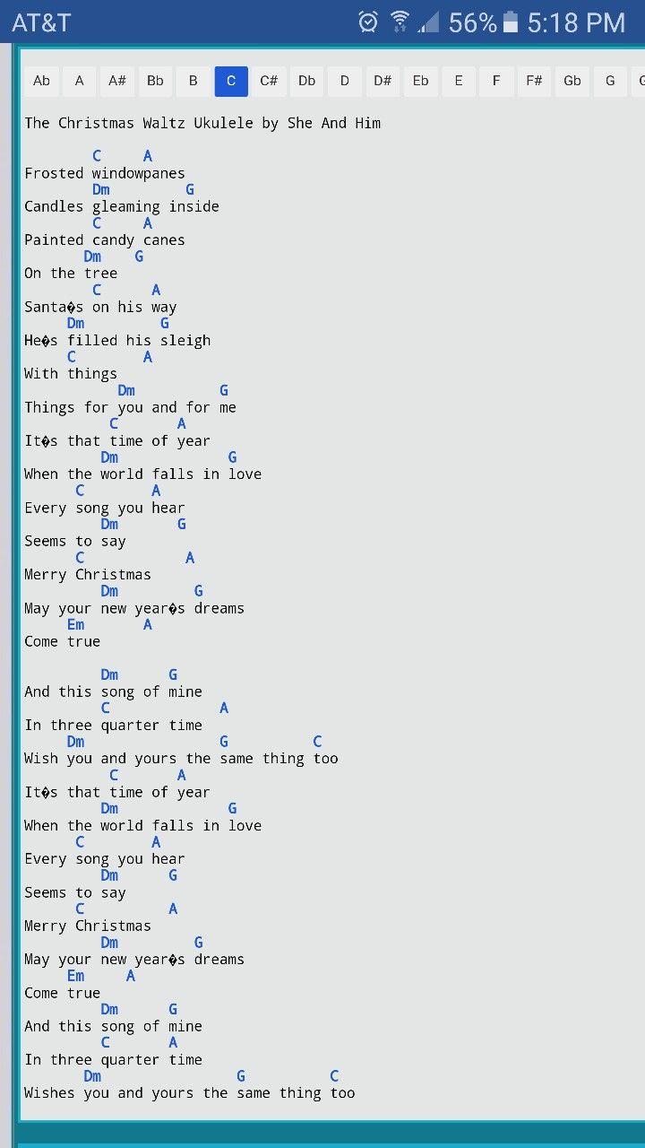 Christmas Waltz Chords.Christmas Waltz Ukulele Ukulele Songs Ukulele Chords