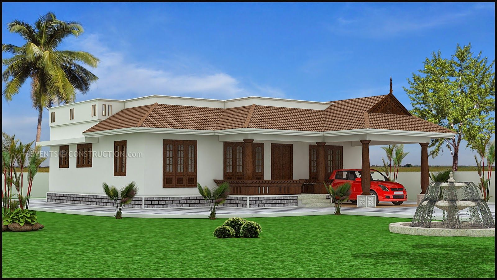 Home Design Kerala Beautiful Houses Inside Kerala Single Floor House Designs Best 1 Story House Designs Kerala House Design House Design House Paint Exterior